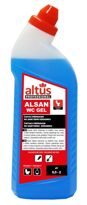 ALTUS Professional ALSAN WC gel čistič WC 750 ml modrý